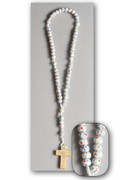Children's Rosary: Wood Bead on Cord White (RO115W)
