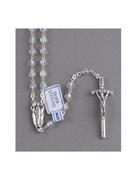 Quality Rosary: Sterling Silver & 6mm Swarovski Beads (RX1925)
