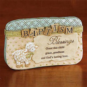 Baptism Desk Plaque