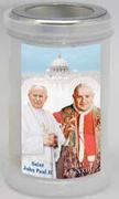Devotional Candle: Saints JPII & John XXIII