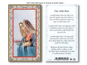 Laminated Holy Cards: 700 SERIES - One Little Rose