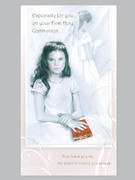 Communion Cards (Each): Girl / Pink
