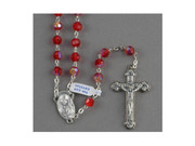 Crystal Rosary 7mm(AB): Red (RX112R)