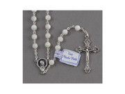 Rosary: Genuine Mother of Pearl Silver Links (RX1302)