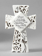 LED Cross Serentiy Prayer 15.5cm (PL2660)