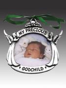 Christmas Ornament/frame, Godchild (CO606)