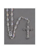 Quality Rosary, Sterling Silver with Swarovski 5mm beads (RX1905)