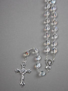 Glass Rosary: 10mm Bead Clear (AB) (RXIR10C)