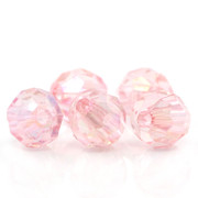 Rosary Making Beads: Acrylic: 6mm Faceted Pink AB (1000)(A034P)