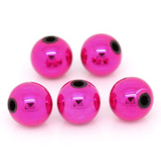 Acrylic Beads- 8mm Round Fuchsia Pink x 300