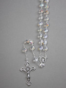 Glass Rosary: 8mm Bead Clear (AB) (RX908C)