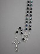 Glass Rosary: 7mm Bead Black (AB) (RX907K)