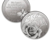 Lucky Coin: I Love You Flower