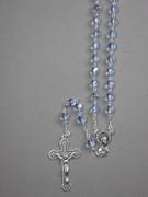 Glass Rosary: 7mm Bead Blue (AB) (RX907B)