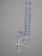 CRYSTAL ROSARY 6mm bead, BLUE (RX906B)
