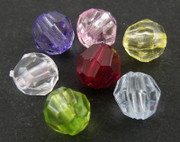 Acrylic Beads- 8mm Round Faceted x 300 (A801)