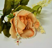 Bracelet: 925 Sterling Silver Plated with Cross (BR1744)