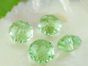 Crystal Beads 8mm Rondelle Light Green x 70