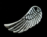 Pendant: Antique Silver Angel Wing 33x14mm