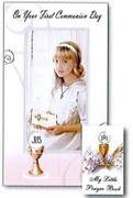Communion Cards (each): Girl with Prayer Book(CDC7434e)