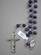 Precious Stone Rosary: Lapis 6mm Bead (RX5526LL)