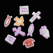 Acrylic Beads: Mixed Religious Symbols (mix100)(P034)