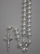 Rosary: 5mm Silver Plated beads (RX104S)