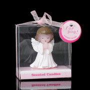 Baby Cake Topper Candle Angel Girl 7cm(one only) (CAB505G)