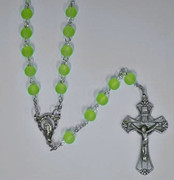 Frosted Glass Rosary: 6mm Green (RX6101G)