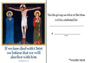 Mass Intention Cards (5): For Dead: Crucifixion (CDD8064)
