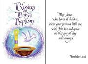 Individual Card: Baptism Baby General (CDB8099e)
