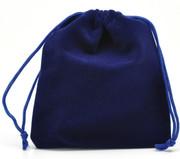 Velvet Drawstring Pouch: Blue 10x 12cms (GE3564)