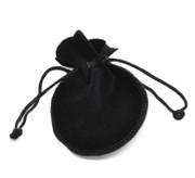 Velvet Drawstring Pouch: Black 9x 7.5cms (GE3565)