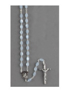 Rosary: Mother of Pearl Oval Bead Blue (RXIM2B)