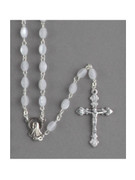 Rosary: Mother of Pearl Oval Bead White (RXIM2W)