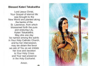 TJP Holy Card:Blessed Kateri Tekakwitha (TJP227B)