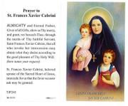 TJP Holy Card:St Frances Xavier Cabrini (TJP245B)