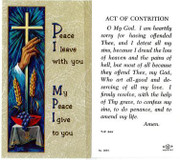 TJP Holy Card: Act of Contrition (TJP266A)