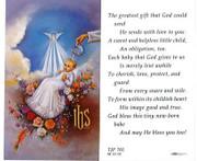 TJP Holy Card: Baptism (TJP701A)