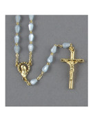 Rosary: Mother of Pearl Tear Shape Blue Bead (RX352B)