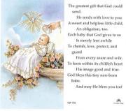 TJP Holy Card: Baptism (TJP701B)