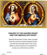 TJP Holy Card: Prayer to the Sacred Heart/Immaculate Heart (TJP703)