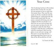 TJP Holy Card: Your Cross (TJP709B)