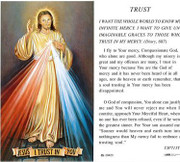 TJP Holy Card: Divine Mercy - Trust (TJP713T)