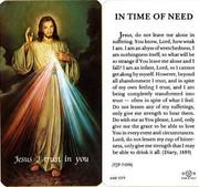 TJP Holy Card: Divine Mercy - In Time of Need (TJP713N)