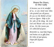 TJP Holy Card: Prayer for Grace to Our Lady (TJP716A)