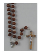 11MM LARGE WOOD ROSARY (BROWN)