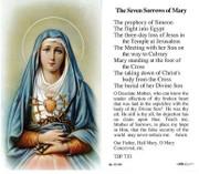 TJP Holy Card: The Seven Sorrows of Mary (TJP733)