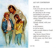 TJP Holy Card: Act of Contrition (TJP735B)
