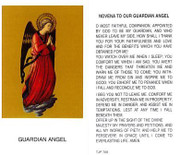TJP Holy Card: Novena to Our Guardian Angel (TJP768)